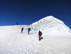 escursione invernale in alta montagna